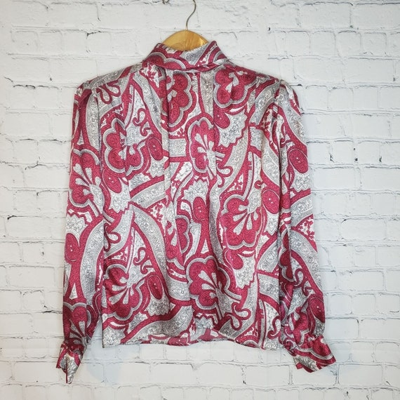 Vintage Los Angeles Top Co. High Neck Blouse