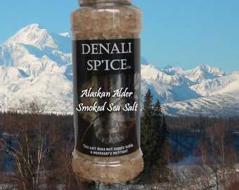 Denali Sp'ice- Alder Smoked Sea Salt 8oz