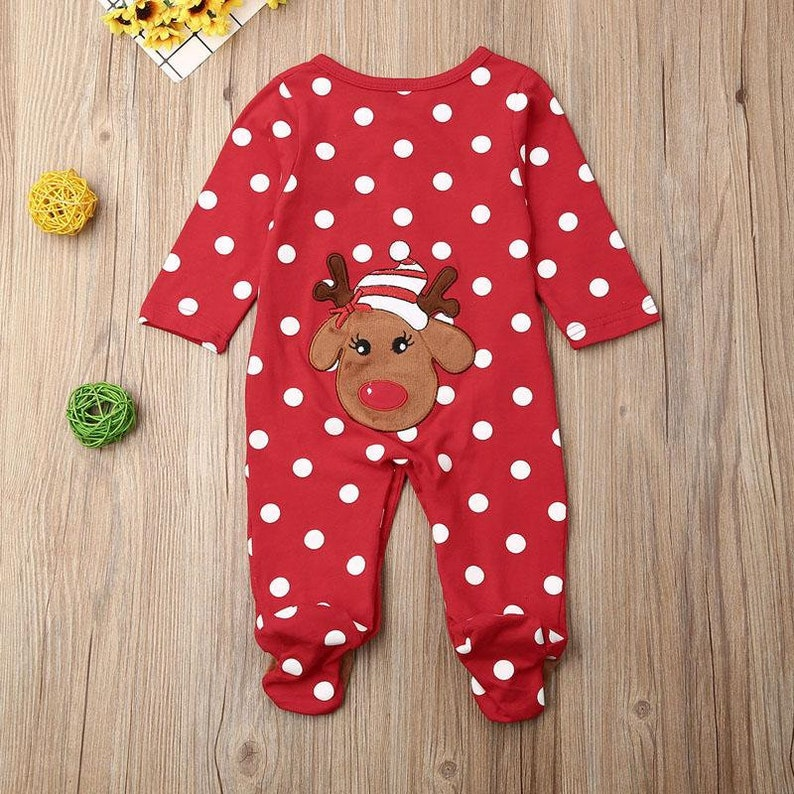 Xmas Romper Luxury Exclusive Baby girl Boy Clothes Long Sleeve Body Suit Newborn Jumpsuits Christmas One Piece Clothes 0-18 Months