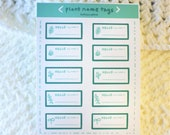 Plant Name Tags Sticker Sheet