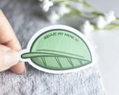 Plant Name Tag Leaf Sticker - Houseplant Label, Planter Tag, Outdoor Durable Vinyl Sticker