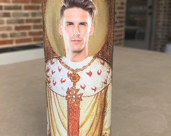 Saint Cody Rigsby Prayer Candle, Peloton, Master Instructor, Boo Crew, Fix Your Wig
