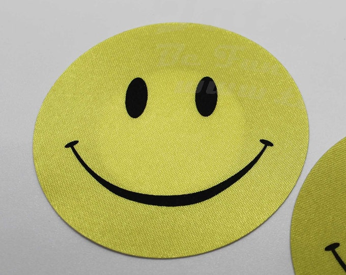 "Smiley Face Nipple Pasties -Go topless, go sheer with no fear! Self adhesive pasties cover nipples when topless/sheer and prevent ""nipping"""