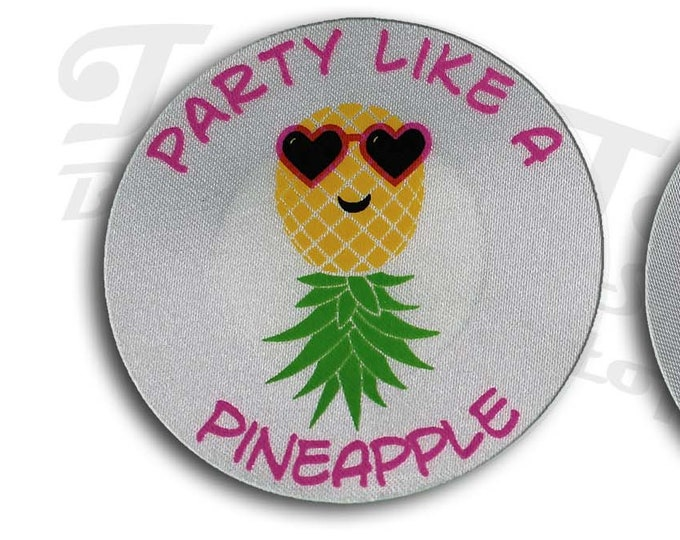 Party Like a Pineapple Nipple Pasties - Go topless, go sheer with no fear! Perfect for a day on the boat or at the pool!