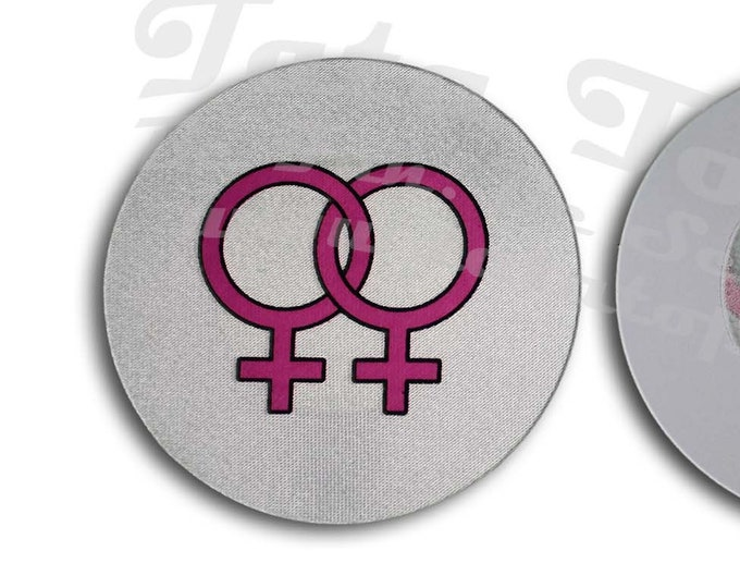 Bi Female/Lesbian Nipple Pasties - Go topless, go sheer with no fear! Perfect for a day on the boat or at the pool!