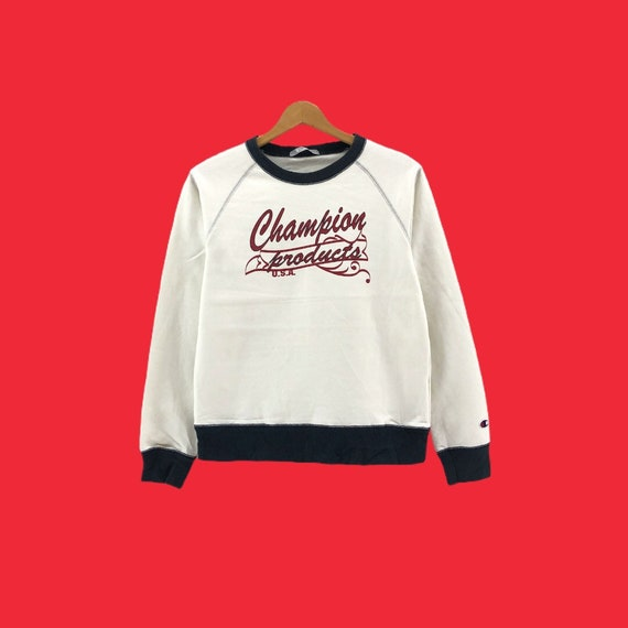 Rare!!Vintage Champion Sweatshirt Big Logo  clothi