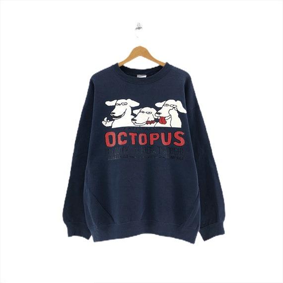 Rare!! Vintage Octopus Cartoon sweatshirt Three Do