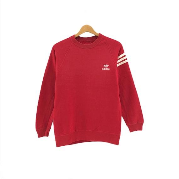 Rare!!Vintage Adidas Sweatshirt Small Logo Embroid