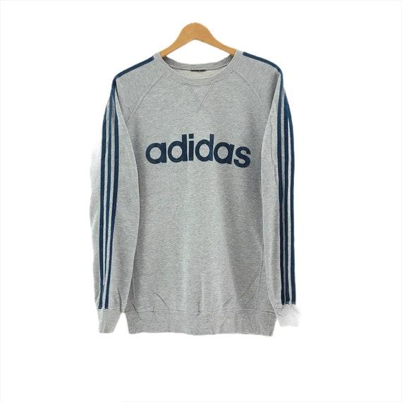 Rare!!Vintage Adidas Sweatshirt Big Logo Embroider
