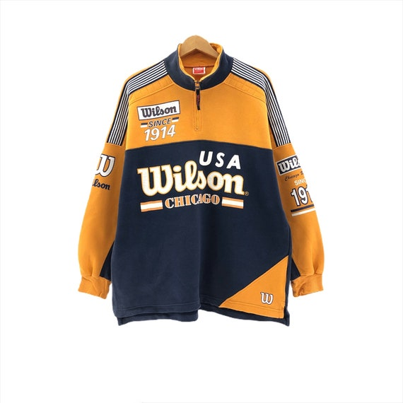 Rare!!Vintage Wilson USA Sweatshirt Big Logo Embro