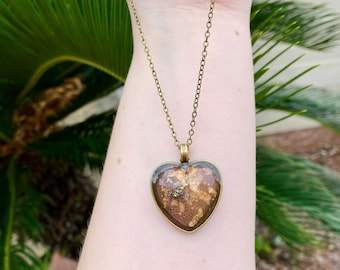 Natural Pyrite Hearts Necklace