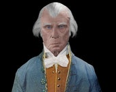 "The Real Face of James Madison Life Mask Portrait Print 8"" x 10"""