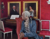 James Madison in the Drawing Room at Montpelier Life Mask Print 8x10
