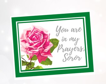 Blank Inside A2 Folded Cards Personalized 1908 Note Cards Pink and Green