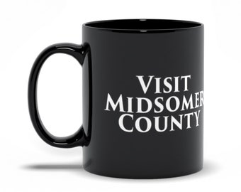 Visit Midsomer County...Body count 745, and counting, Midsomer Murders Joke Mug