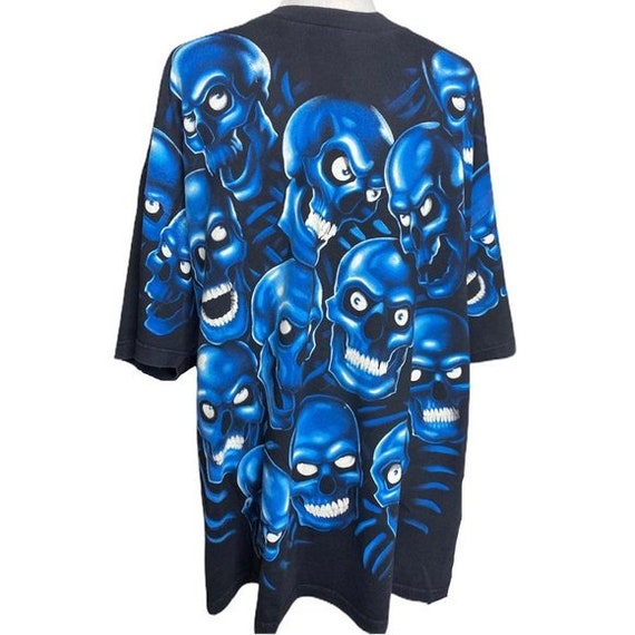 2001 Liquid Blue Blue Skull pile shirt 3X