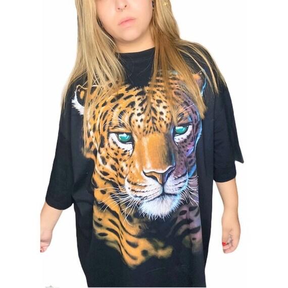 Deadstock 1998 Liquid Blue cheetah shirt
