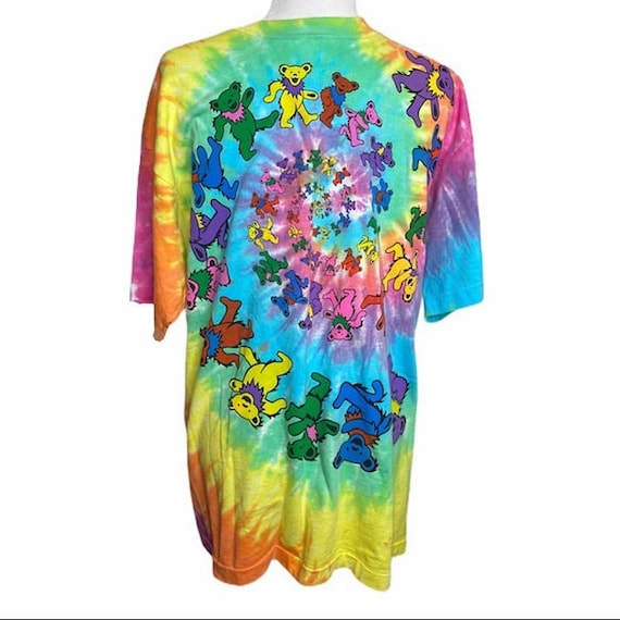 VTG liquid Blue dancing bears tie dye shirt XL