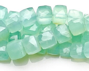 25/% OFF 7 Pcs Beautiful Lavender Chalcedony Faceted Cube Boxes Beads Size 7-8 MM