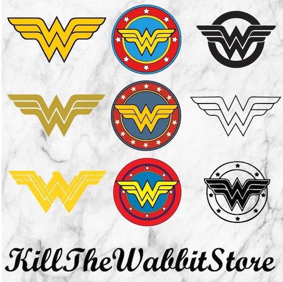 Wonderwoman logo SVG, Wonder woman sut files, Wonder woman dxf