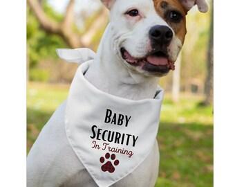Pregnancy Announcement Dog Bandana Baby Shower Dog Bandana Pregnancy Announcement Dog Scarf Whoa Dog E Sidekick Arriving Dog Bandana