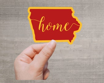Iowa Home Waterproof Sticker