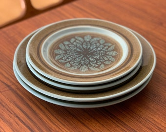 Sets of 2 Nut Tree Pattern Earthenware Plates by Franciscan | 2 Dinner Plates | 2 Salad Plates | Vintage Franciscan | Franciscan Nut Tree