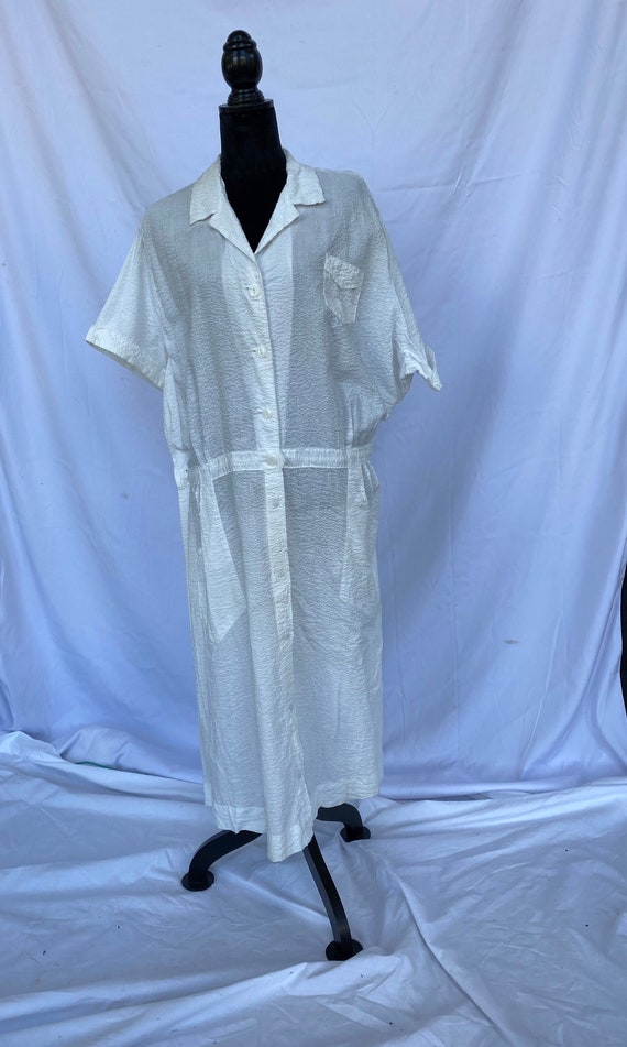Vintage cotton seersucker Wilkshire uniform, size
