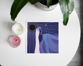 Dreamer-Digital Illustration Print, fantasy, ethereal, celestial art