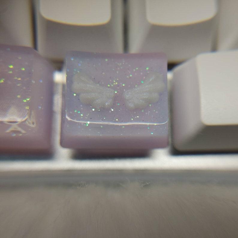 Angel wings keycaps