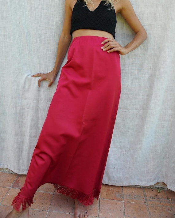 Unique vintage satin skirt