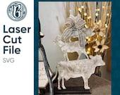 Farmhouse - Farm Animals Sign Set Digital Laser Cut SVG File Glowforge Home Decor Vector