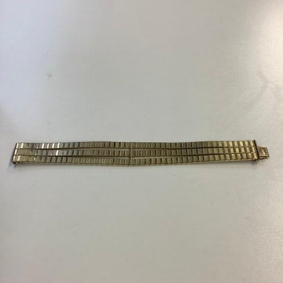 Antique Art Deco 18ct Double Rolled Gold Bracelet