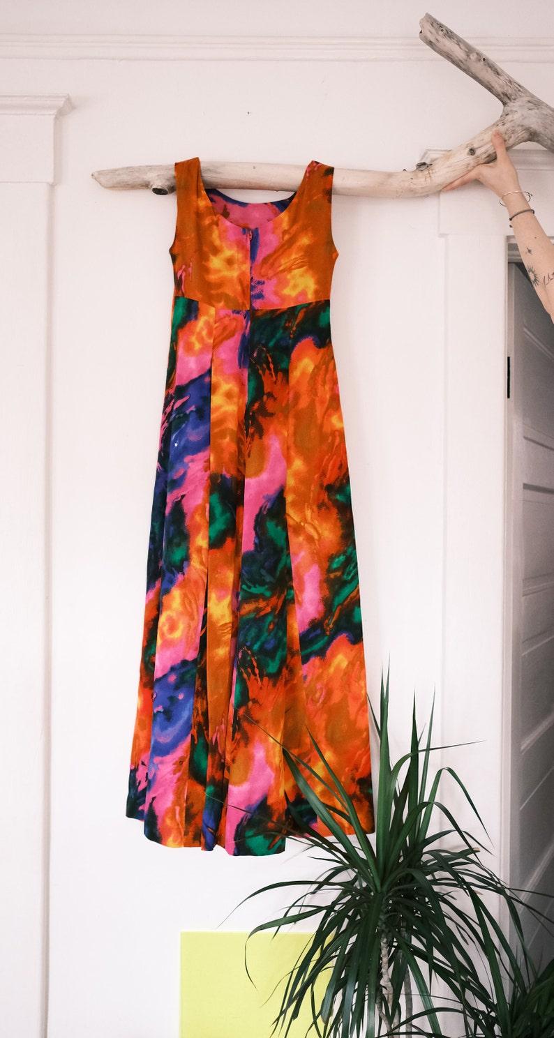 Hawaiian Traditional Maxi Dress Size XS.