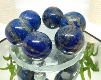"Afghan Lapis Lazuli & Pyrite 1.5"" Spheres / Truth / Wisdom"