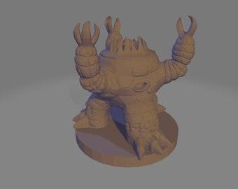 Xorn Miniature Figurine - Xorn D&D Mini Figure - Xorn Elemental