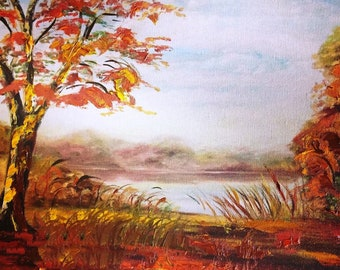 Kildaire Farm Pond in Cary North Carolina   Limited Edition Enhanced One of a Kind   Signed Reproduction
