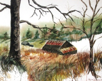 North Carolina Scenes   Buy 2 Get 1 FREE Art Greeting Cardby Catherine Ludwig Donleycott