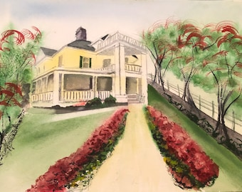 CLAYTON NC Art Cards   Buy 2 Get 1 FREE   Original Painting Reproductions   by Catherine Ludwig Donleycott