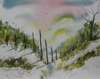 Buy 2 Get 1 FREE   Beach Scene Prints of Original Paintings by Catherine Ludwig Donleycott