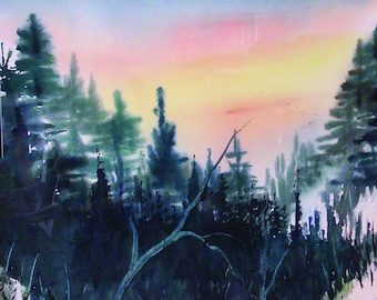 Buy 2 Get 1   From Mt L'Conte It is a Long Way Home Art Card from Original Paintings by Catherine Ludwig Donleycott