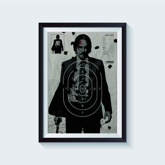 John Wick Movie Poster John Wick Movie Art Print 24x36 inches #6 16x24 Keanu Reeves Wall Art 11x17