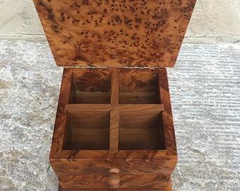 Trinket Treasure Chest Gift box Wooden jewelery box Birch wood Jewellery box Luxury wooden ring box Handmade Treasure chest Ring box