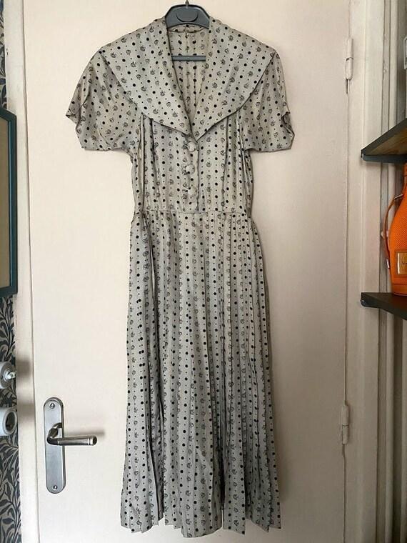 Vintage silk dress 40s