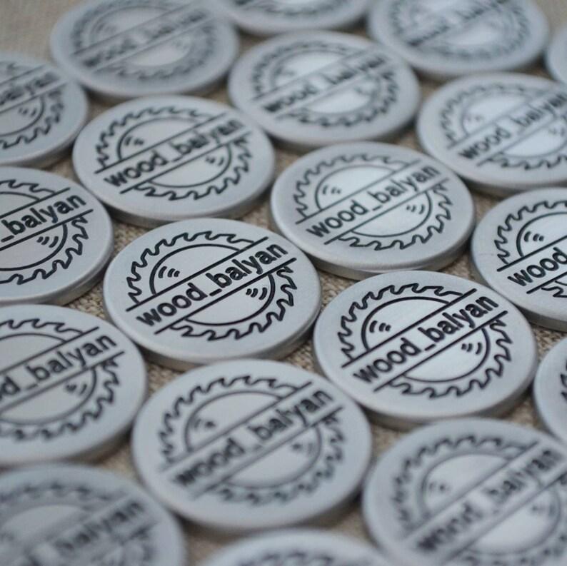 Custom Metal Tags Metal Furniture Tag Metal Tag for Handmade Item. Metal Tags Scrapbooking Metal Logo Tag Metal Name Tags