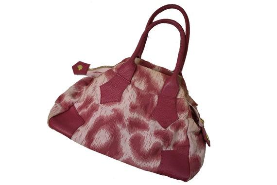 Vivienne Westwood Pink Leopard Print bag