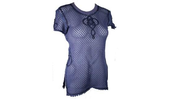 Jean Paul Gaultier crochet mesh shirt