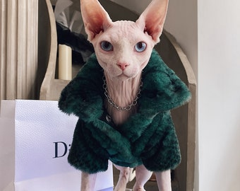 Customize Couples wear with your Cat Sphynx Cat Fur Series Korean star same style for Hairless cat and Devon Rex