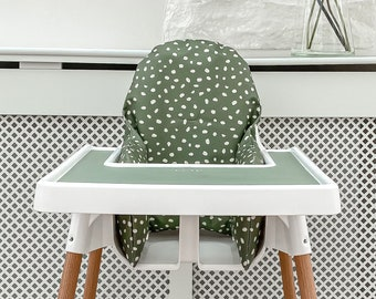 Wipeable Cushion for the Antilop IKEA Highchair - Elderflower print