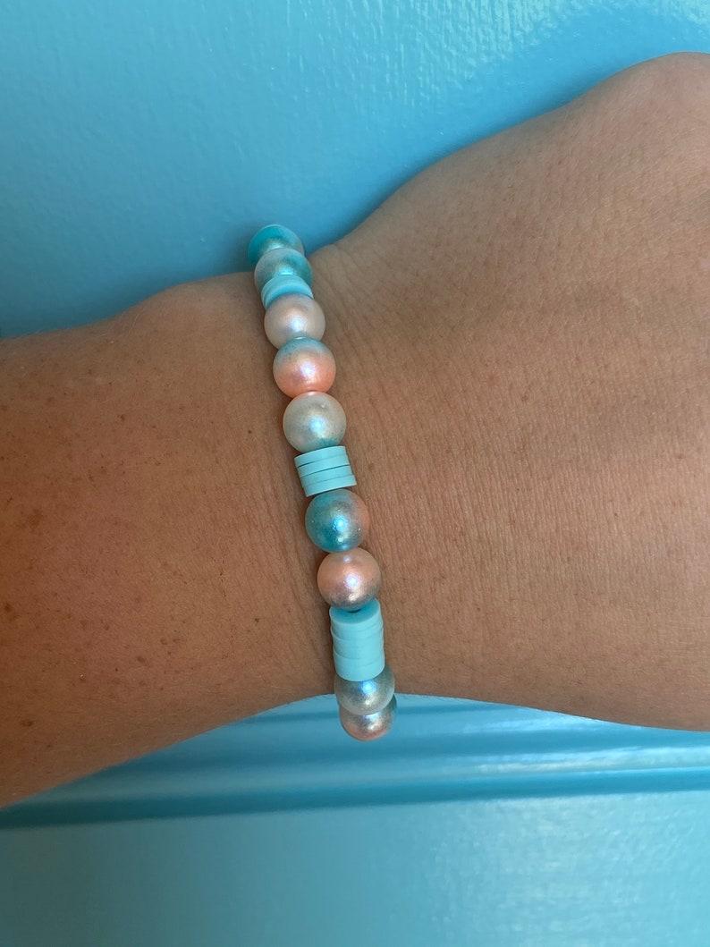 Heishi beaded Princess castle bracelet!